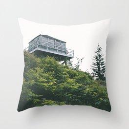 Oregon Fire Lookout Throw Pillow