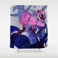 sagittarius Shower Curtains featuring SAGITTARIUS by Chandelina