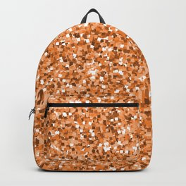 Abstract geometric rose gold glitter pattern Backpack