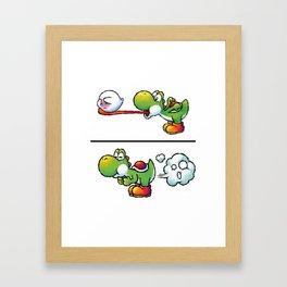 Farting Yoshi Bross Framed Art Print