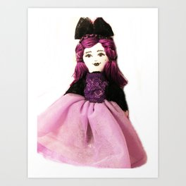 Pretty in Purple Doll Art Print