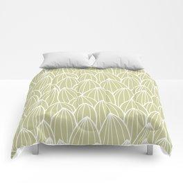 Cactus grid green Comforters