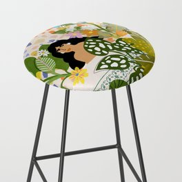 Bathing with Plants Bar Stool