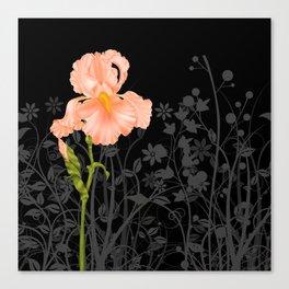 Iris Orange Canvas Print