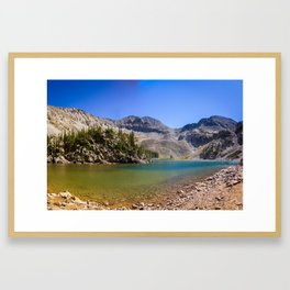 Colorado Scenery Pictures - Lake Agnes Framed Art Print