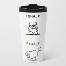 Inhale Exhale English Bulldog Travel Mug