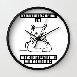 cats loyalty Wall Clock