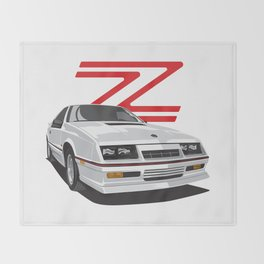 Daytona Turbo Z / CS - White Throw Blanket