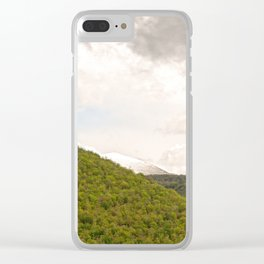 Dramatic summer mountain cloudscape Clear iPhone Case