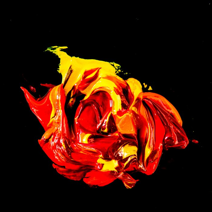 yellow-red on black Comforters