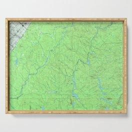 ME Clayton Lake 807857 1993 topographic map Serving Tray