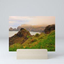 Coastal landscape in Azores Mini Art Print