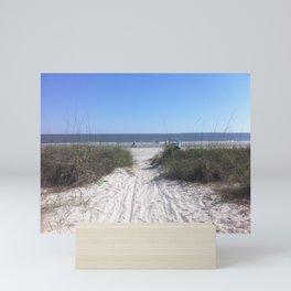 BeachWalk16 Mini Art Print