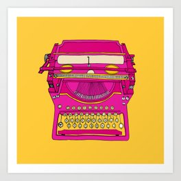 Typewriter III Art Print