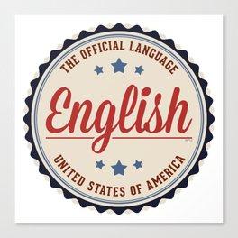 USA Official Language Canvas Print