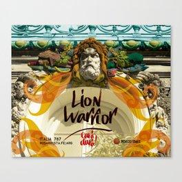 lion warrior - cara dura! Canvas Print