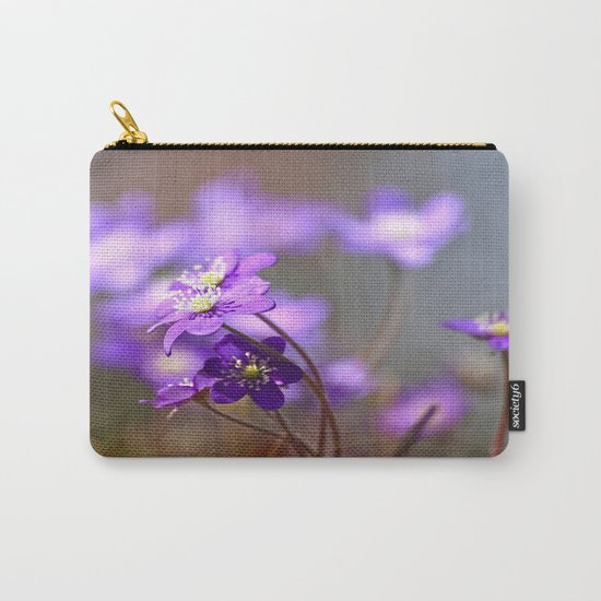 Hepatica In Spring Forest  Carry-All Pouch