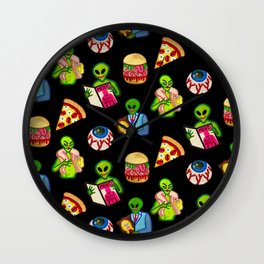 Bad Aliens Wall Clock