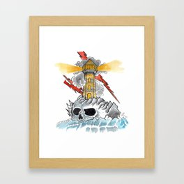 OldSchool Lighthouse Framed Art Print