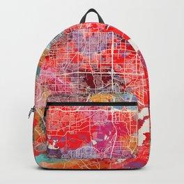 Grand Prairie map Texas painting 2 Backpack