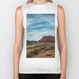 """""""Between Here And There"""" (Valley of Fire; Nevada) Biker Tank"""