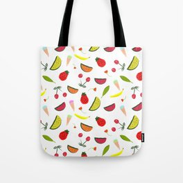 Vegan Goodies Pattern Tote Bag