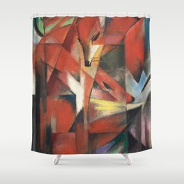 Franz Marc - The Foxes Shower Curtain