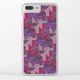 Geometrix XCVIII Clear iPhone Case