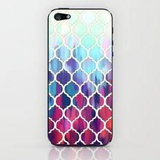 Moroccan Meltdown - pink, purple & aqua painted tiles iPhone & iPod Skin