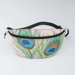 Unique Peacock Feathers Pattern Fanny Pack