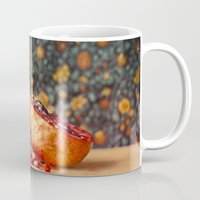pomegranate Mugs featuring Pomegranate by Marie Carr