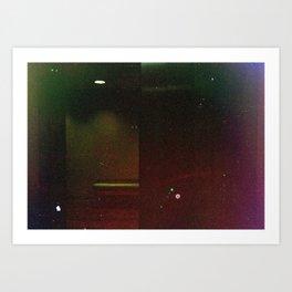 Damaged Disposable Camera Film - Bench Art Print