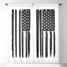 Black american flag Blackout Curtain