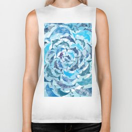 Water color dolphins Biker Tank