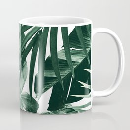 Tropical Jungle Leaves Pattern #4 #tropical #decor #art #society6 Coffee Mug