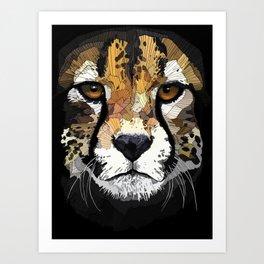 Face de Chita Art Print