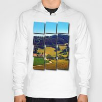 hiking Hoodies featuring Hiking through springtime scenery by Patrick Jobst