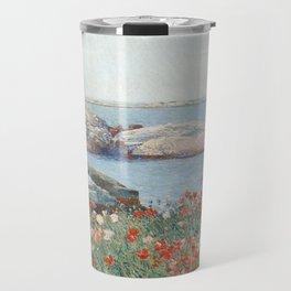 Poppies, Isles of Shoals 1891 by Childe Hassam Travel Mug