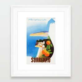 Vintage Sorrento Italy Travel Ad Framed Art Print
