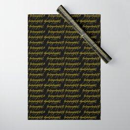 Elvish // Gold & Black Wrapping Paper