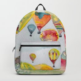 Hot air balloons flying Backpack