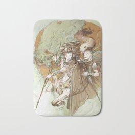 Ancient Centaur War Goddess Bath Mat