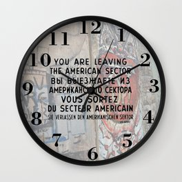 Checkpoint Charlie Signage, Berlin Wall Wall Clock