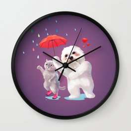 Fall in Love with Rain Wall Clock