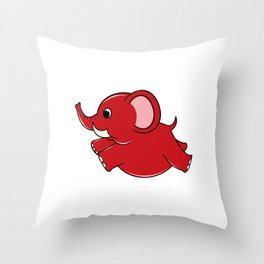 Plumpy Elephant Throw Pillow