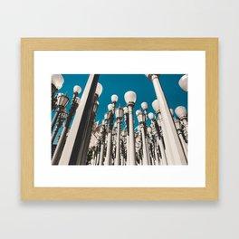 City of lights Framed Art Print