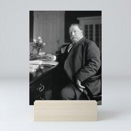 President William Howard Taft At His Desk - Circa 1910 Mini Art Print