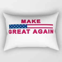 MAGA tee shirt trump supporter - Make America Great Again Rectangular Pillow