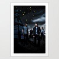 supernatural Art Prints featuring Supernatural by Clara J Aira