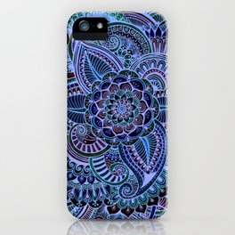 Really Blue Henna Style iPhone Case